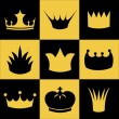 Crown collection — Imagen vectorial