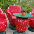 Stock Photo: Strawberry dining room furniture