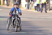 Wheelchair marathon — Stock Photo