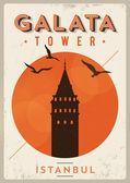 Retro istanbul affisch — Stockvektor