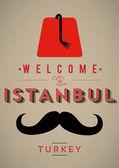 Retro Istanbul Poster — Stock Vector