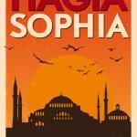 Vintage Hagia Sophia Poster — Stock Vector #29186587