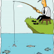 Stock Vector: Fishing Businessman
