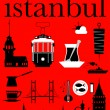 Istanbul Pictogram Set — Stock Vector