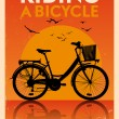 Vintage Bicycle Poster — Stock Vector
