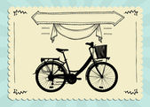 Vintage Bicycle Card — Stock Vector