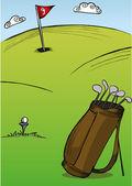 Golf Course — Stock Vector