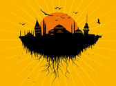 Istanbul Silhouette Grunge Vector Art — Stock Vector