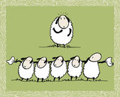 Dancing Sheeps — Vector de stock