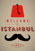 Vintage Istanbul Poster — Stock Vector