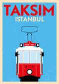 Vintage Taksim Poster — Stock Vector