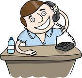 Mannen i telefon — Stockvektor