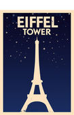 Eiffel Tower Vintage Poster — Stock Vector
