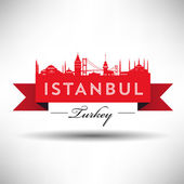 Istanbul Typography Design — Stock Vector