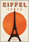 Vintage Eiffel Tower Poster — Stock Vector