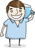 Water color delivery person — Stock Vector