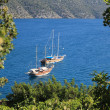 Sailing Yacht on Kekova — Stock Photo