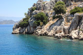 Mediterranean Coast at Kekova, Antalya. — Stock Photo