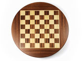 Empty colorless chess board — Stock Photo