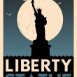 Vintage Liberty Statue Poster — Stock Vector #29879923