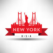 New York City Typography Design — Stock Vector