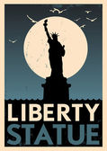 Vintage Liberty Statue Poster — Stock Vector