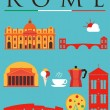 Stock Vector: Rome Travel Icons