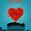 Retro Rome Poster — Stock Vector