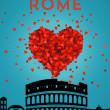 Retro Rome Poster — Stock Vector