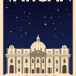 Stock Vector: Retro VaticCity Poster