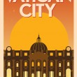 Retro Vatican City Poster — Stock Vector