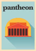 Pantheon Rome Poster — Vector de stock