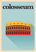 Colosseum Poster — Stock Vector