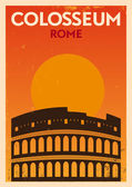 Retro Colosseum Poster — Stock Vector