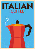 Italian Coffee Poster — Stock Vector