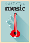 Oriental Music Poster — Stock Vector