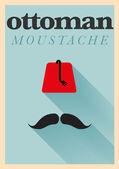 Ottoman Moustache Poster — Stock Vector