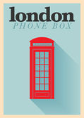 Phone Box Poster — Stock Vector
