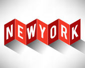 New York City Typography — Stok Vektör