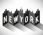 New York City Typography — Stock Vector