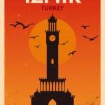 Vintage Izmir Poster Design — Stock Vector #38412417