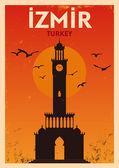 Vintage Izmir Poster Design — Stock Vector