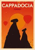 Vintage Cappadocia Poster — Stock Vector