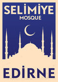 Selimiye Mosque Poster — Stock Vector