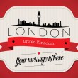 Stock Vector: London City Greeting Card
