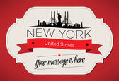 New York City Greeting Card — Stock Vector