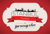 Istanbul City Greeting Card — Stock Vector