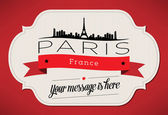 Paris City Greeting Card — Stock Vector