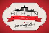 Berlin City Greeting Card — Stock Vector