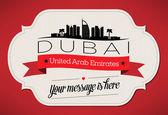 Dubai City Greeting Card — Stock Vector